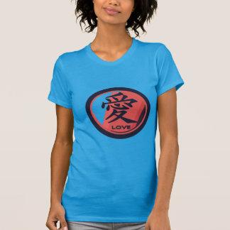 Kanji Love - Retro Red, Blue Tshirt