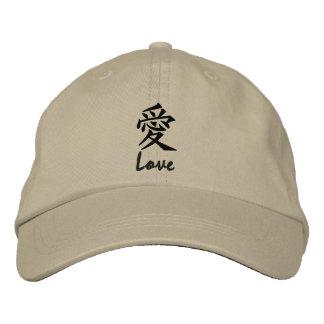 Kanji Love Symbol Hat Embroidered Hat
