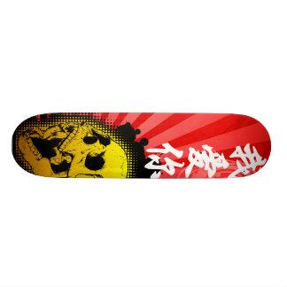 """Kanji Skull - """"I Love You"""" 20.6 Cm Skateboard Deck"""