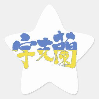 [Kanji] Ukraine Star Sticker