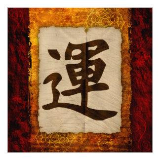 Kanji Zen Luck Photograph