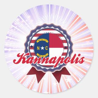 Kannapolis, NC Classic Round Sticker