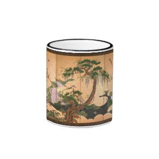 Kano Eino Birds and Flowers of Spring and Summer Ringer Mug