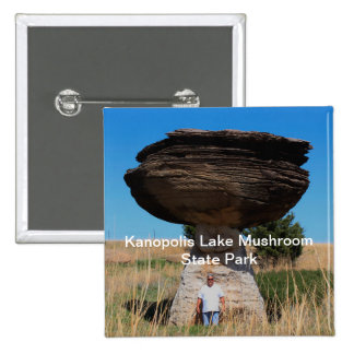 Kanopolis Lake Mushroom State Park SQUARE BUTTON