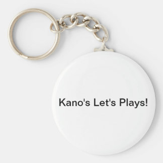 Kano's Let's Plays Key-Chain Basic Round Button Key Ring