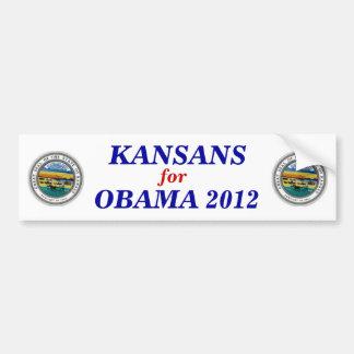 Kansans for Obama 2012 sticker Bumper Sticker