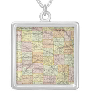 Kansas 2 silver plated necklace