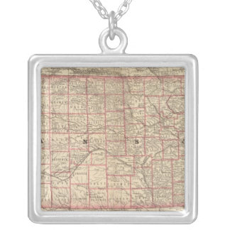 Kansas 3 silver plated necklace