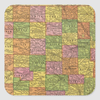 Kansas 4 square sticker