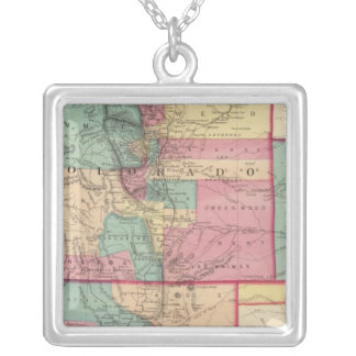 Kansas, Arizona, Colorado, New Mexico, and Utah Silver Plated Necklace