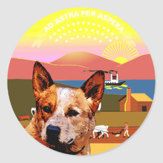 Kansas Australian Cattle Dog Classic Round Sticker
