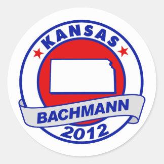 Kansas Bachmann Round Sticker