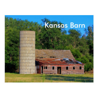 Kansas Barn Post Card