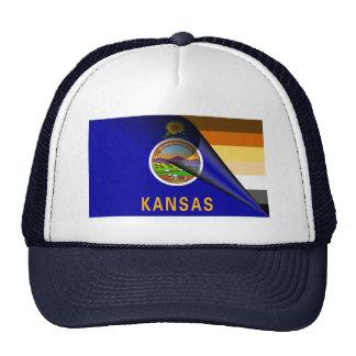 Kansas Bear Pride Flag Cap