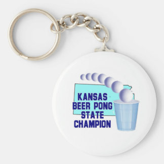 Kansas Beer Pong Champion Keychain