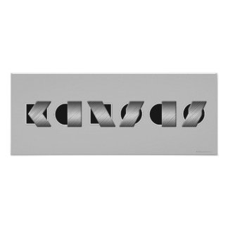 KANSAS (Black and White) Poster