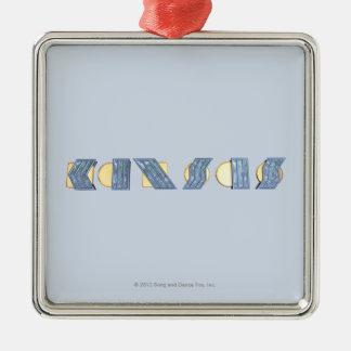 KANSAS (Blue and Gold) Christmas Ornament