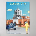 Kansas City Airport Art Deco Print