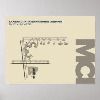 Kansas City Airport (MCI)  Diagram Poster