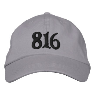 Kansas City Area Code 816( or use your area code) Embroidered Hats