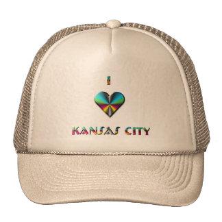 Kansas City -- Blue Green & Burgundy Trucker Hats