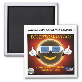 Kansas City Eclipse Magnet