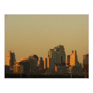 Kansas City from a distance Postcard