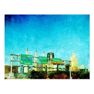 Kansas City Highway Postcard