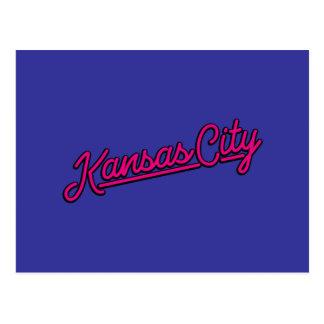 Kansas City in magenta Postcard