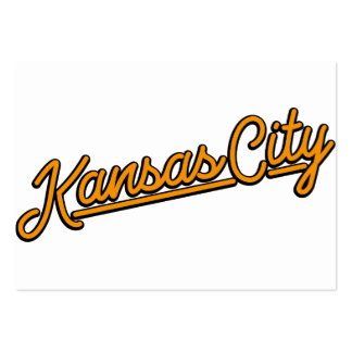 Kansas City in orange Pack Of Chubby Business Cards