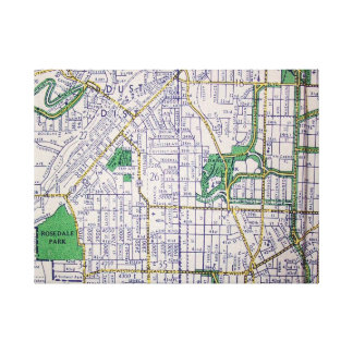 Kansas City, KA Vintage Map Print