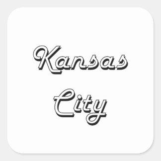 Kansas City Kansas Classic Retro Design Square Sticker