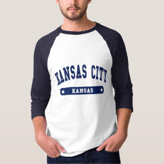 Kansas City Kansas College Style tee shirts