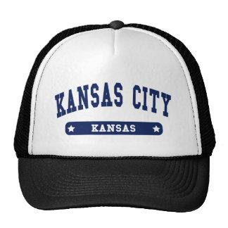 Kansas City Kansas College Style tee shirts Mesh Hats