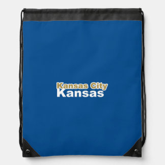 Kansas City, Kansas Drawstring Backpack