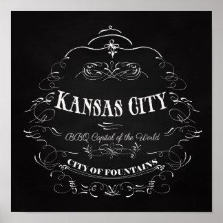 Kansas City Missouri - BBQ Capital of the World Poster