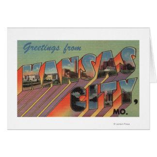 Kansas City, Missouri - Large Letter Scenes Card