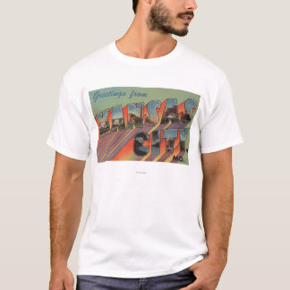 Kansas City, Missouri - Large Letter Scenes T-Shirt