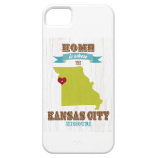 Kansas City, Missouri Map – Home Is Where Barely There iPhone 5 Case