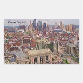 Kansas City, MO Skyline Memorial Liberty Area Rectangular Sticker