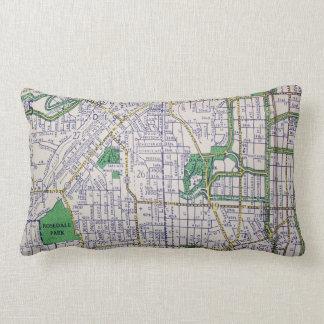 KANSAS CITY, MO Vintage Map Lumbar Pillow