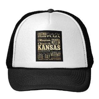 Kansas City of Missouri State Typography Art Cap