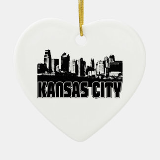 Kansas City Skyline Christmas Ornament