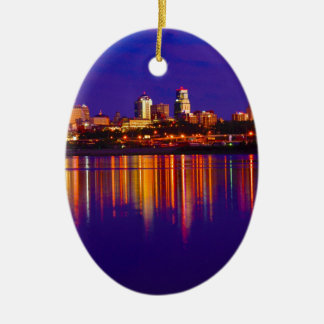 Kansas City Skyline Christmas Ornament