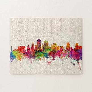 Kansas City Skyline Cityscape Jigsaw Puzzle