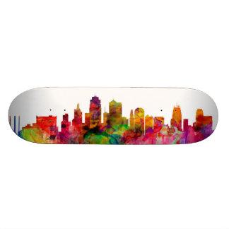 Kansas City Skyline Custom Skateboard