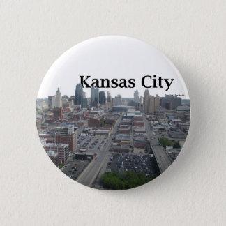 Kansas City Skyline with Kansas City in the Sky 6 Cm Round Badge