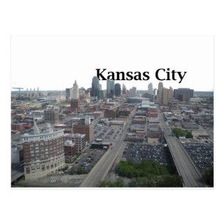 Kansas City Skyline with Kansas City in the Sky Postcard