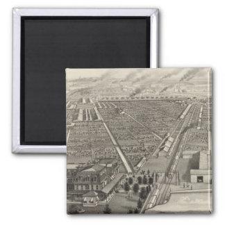 Kansas City Stock Yards, Kansas City, Kansas Square Magnet