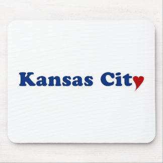 Kansas City with Heart Mouse Pad